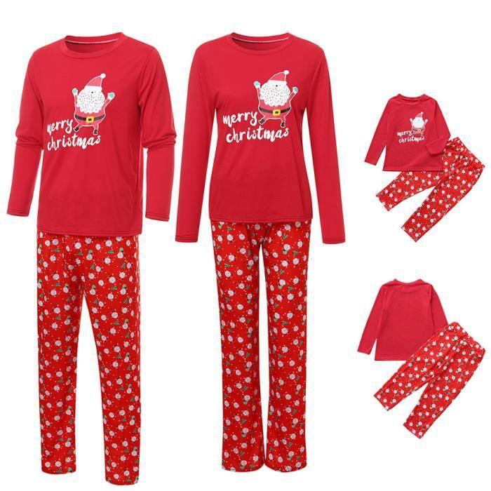 Rouge Noël Femmes Hauts Pyjama De Nuit Maman Père Pantalons Ensemble Blouse Famille FFxwP6HrqE
