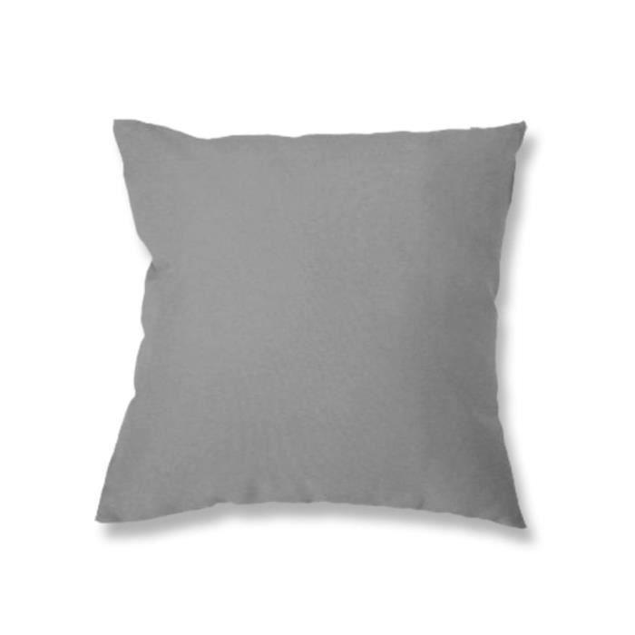 Coussin déhoussable 40x40 cm ALIX gris -