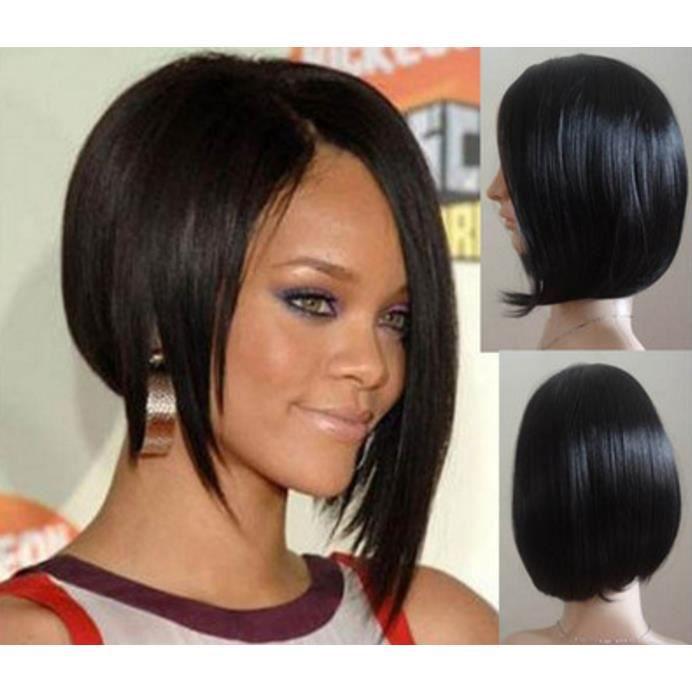 Noir Rihanna Perruque synthétique de fil
