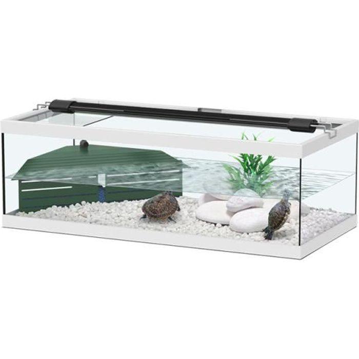 aqua tortum 75cm blanc achat vente vivarium. Black Bedroom Furniture Sets. Home Design Ideas