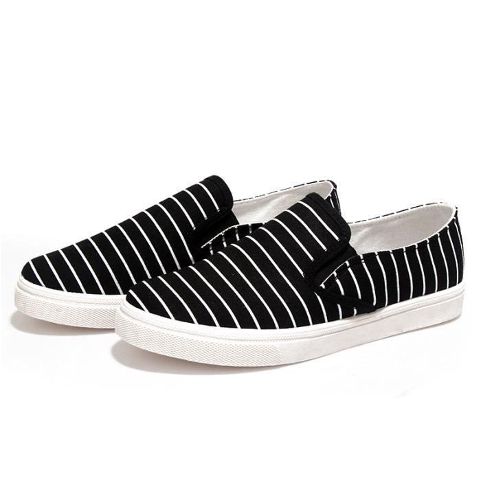 Chuassures Hommes Printemps Ete Mode Classique Chaussures LLT-XZ085Noir44