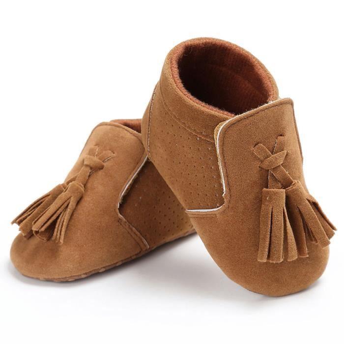 BOTTE Chaussures bébé garçon fille nouveau-né crèche chaussures à semelle souple@BrownHM
