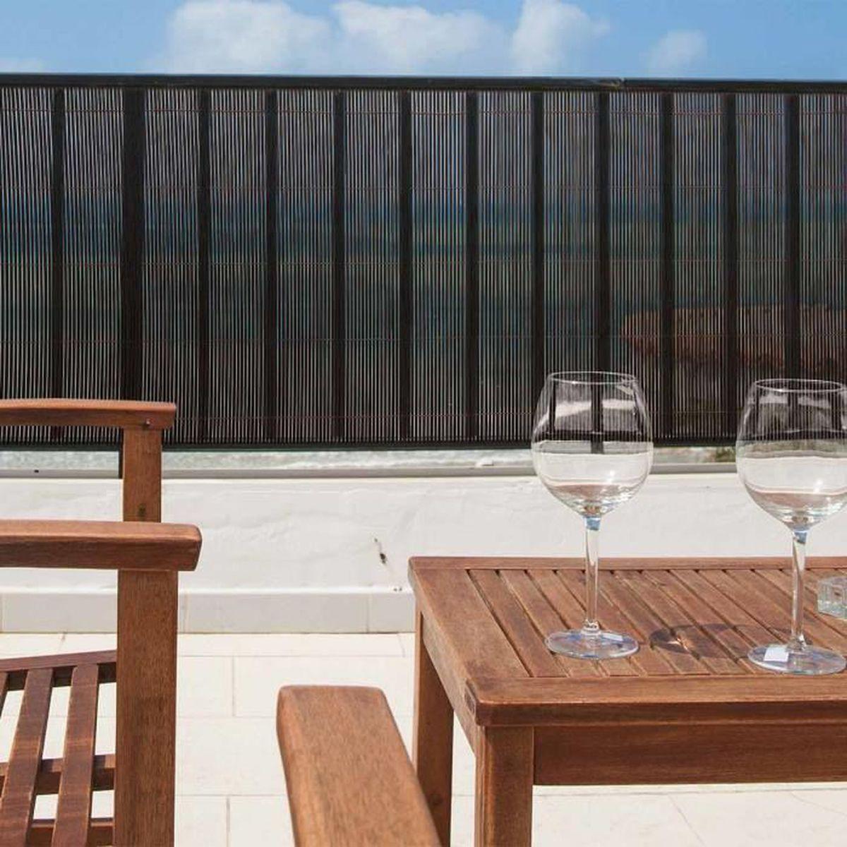 brise vue exel willow osier synth tique 1 x 3 m marron. Black Bedroom Furniture Sets. Home Design Ideas