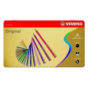 STABILO Boîte métal x38 Crayons de couleur Original