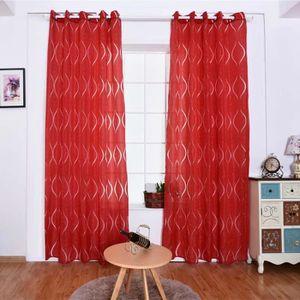 RIDEAU Rouge rideaux occultants 100x250 cm 2 pcs