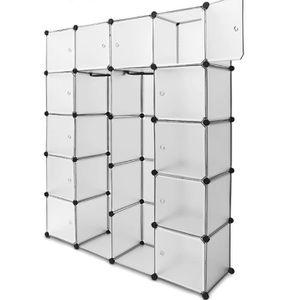 ARMOIRE DE CHAMBRE Langria 20 Cubes Armoire Penderie Motif Storage Mo