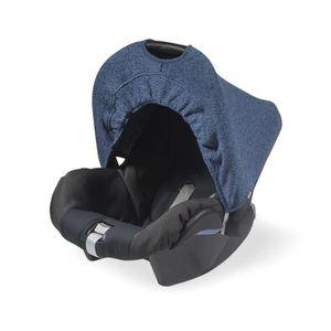 cf303a6ee483ec BOUCLIER DE PROTECTION Pare-soleil pour porte-bébé Tricot délavé Bleu mar