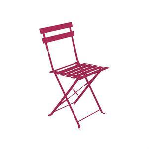 Chaise pliante rose achat vente pas cher - Chaise de jardin metal pliante ...