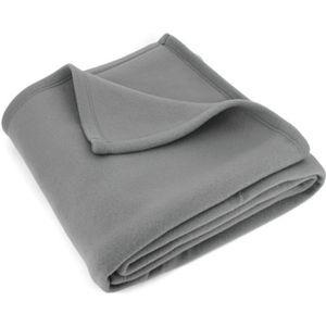 COUVERTURE - PLAID Couverture polaire 240x260 cm Isba gris Acier 100%