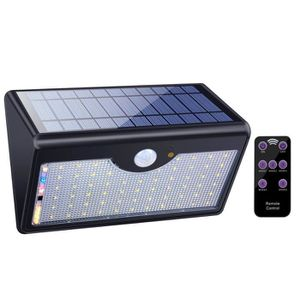 LAMPE DE JARDIN  Lampe Solaire 60 LED avec Télécommande 1300LM 5 Mo