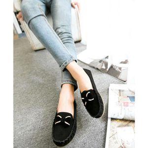 MOCASSIN Casual Walking cuir Mocassins Femme ronde Toe S...