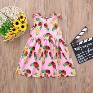 03a87e2205185 Ensemble de vêtements Enfants Infant Filles ananas Imprimer bowknot Prin ...
