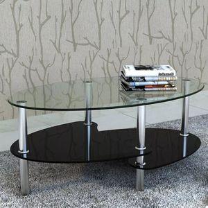 TABLE BASSE Table basse  verre trempé avec design exclusif  co