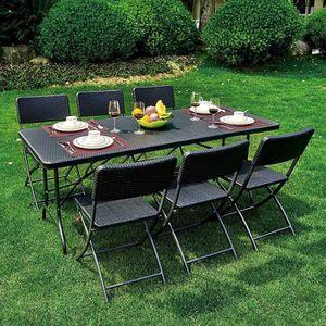 TABLE DE CAMPING IKAYAA 6FT Table pliante pour camping, pique-nique