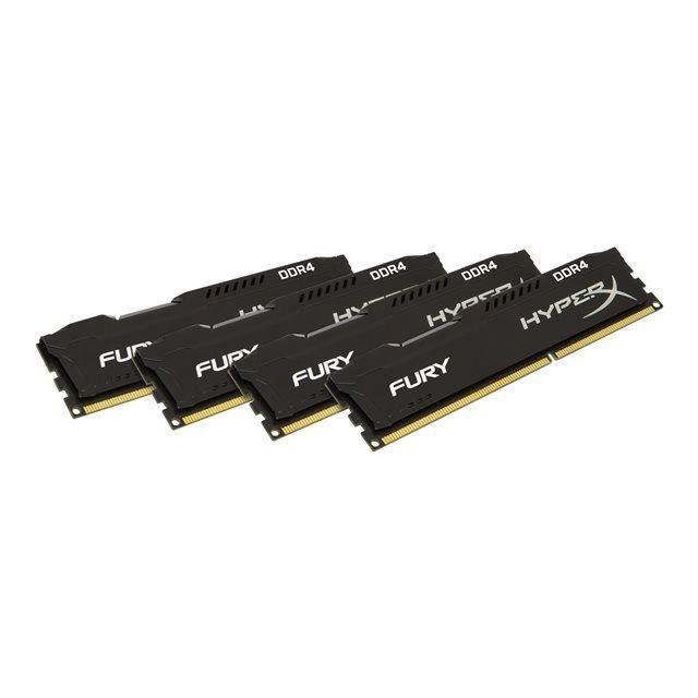 HYPERX Mémoire PC FURY Black- 32Go(4x8Go) - DDR4 - 2666MHz - CL16 - DIMM