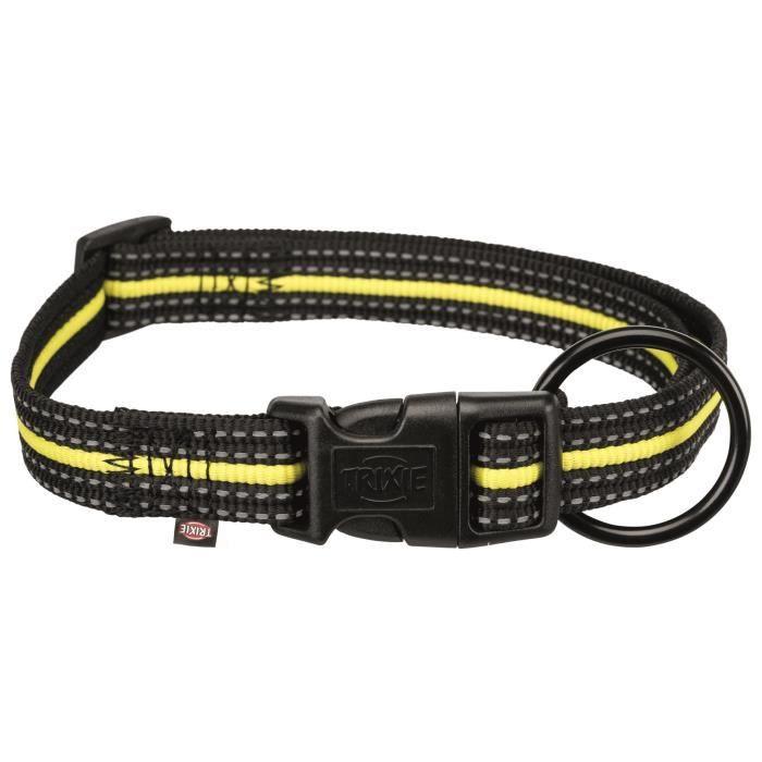 TRIXIE Collier Sporting Fusion M–L : 35–55 cm-20 mm - Noir et jaune - Pour chien