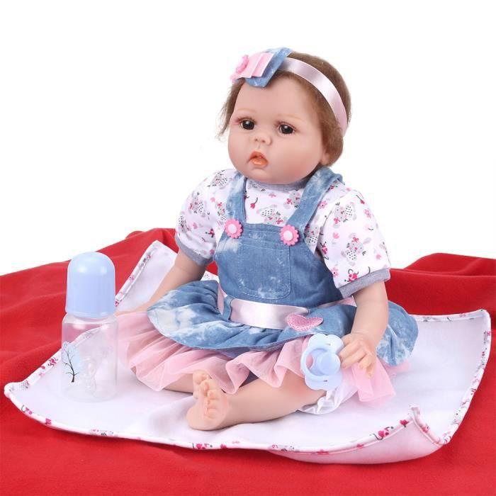 bebe reborn en silicone souple fille achat vente jeux et jouets pas chers. Black Bedroom Furniture Sets. Home Design Ideas
