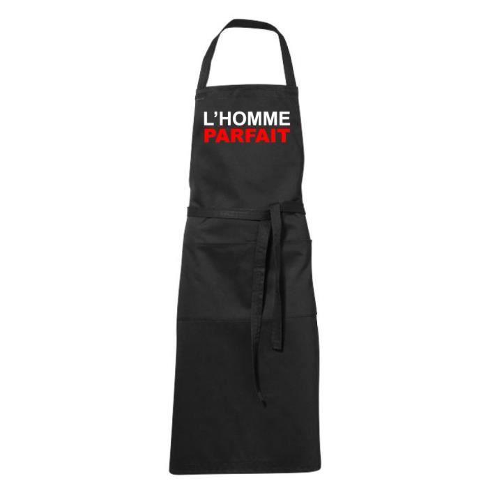 Tablier De Cuisine Noir Humoristique Tablier Noir Lhomme Parfait