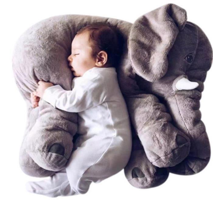 OREILLER BÉBÉ Peluche bébé éléphant 60cm,Coussin Créatif D'éléph