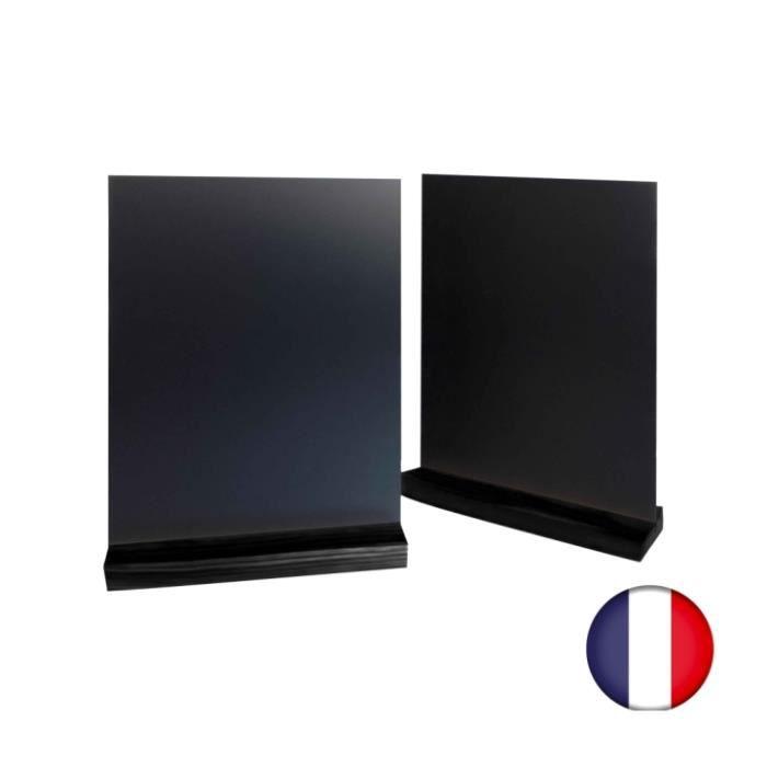 Lot de 2 supports ardoise de table - couleur noir, format A4 ...