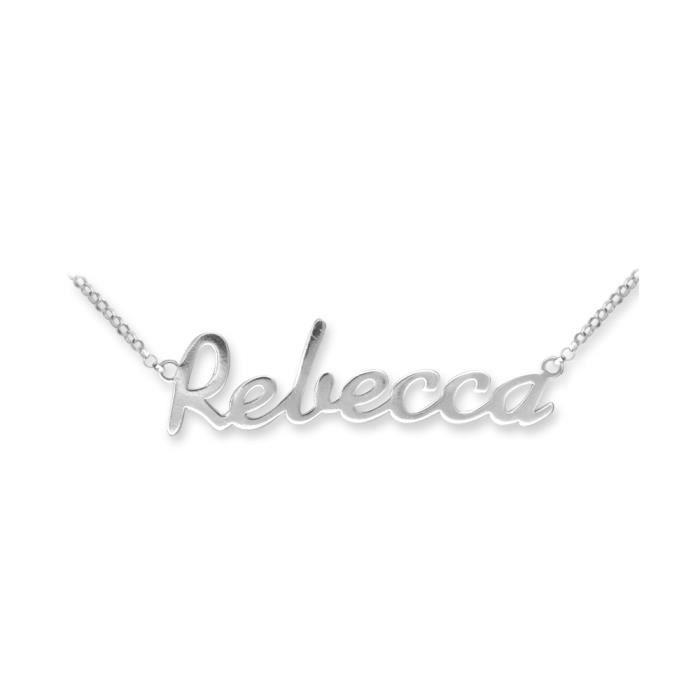 Jewelco Londres dames sterling solide identité collier en argent de la plaque signalétique