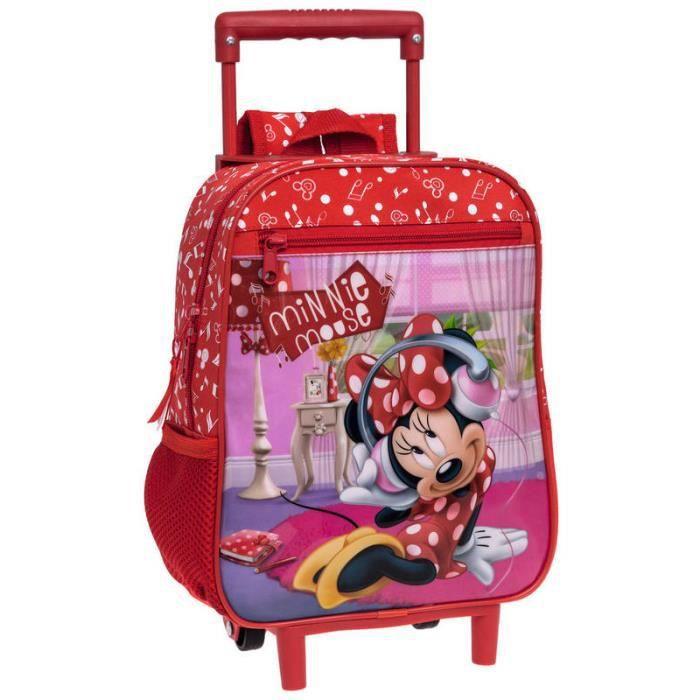 MINNIE DISNEY - Cartable à roulettes Minnie Mouse Rouge - Achat ... 92f94c6ca7d1