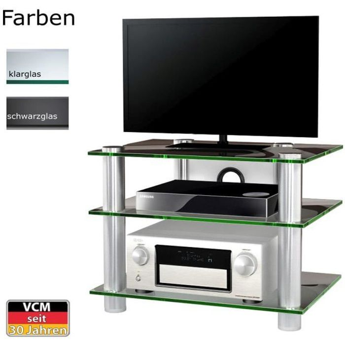 netasa meuble tv hifi video commode rangement verr with cdiscount commode. Black Bedroom Furniture Sets. Home Design Ideas