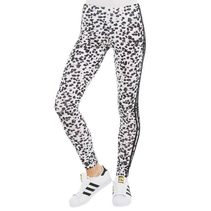 e0e535528307b Legging Paint blanc Femme Adidas Blanc Blanc - Achat   Vente legging ...