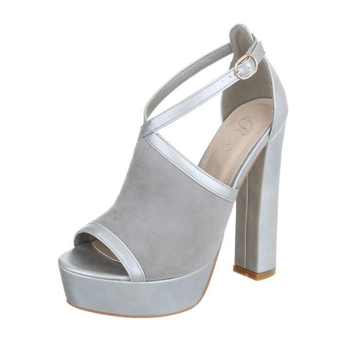 Chaussures femme sandale à talons hauts High Heels escarpin Beige 41 GT5CPNbF