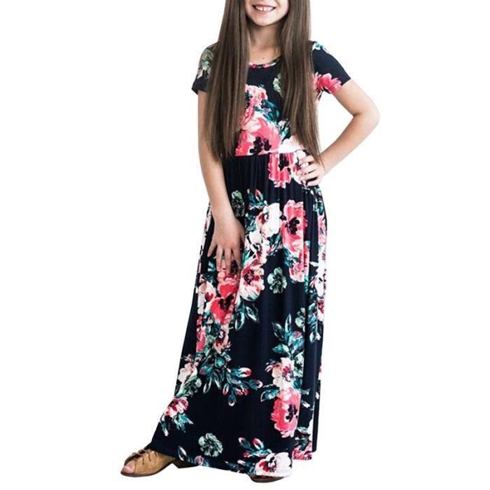 plus de photos f7fb8 b6c79 Robe longue fille 10 ans