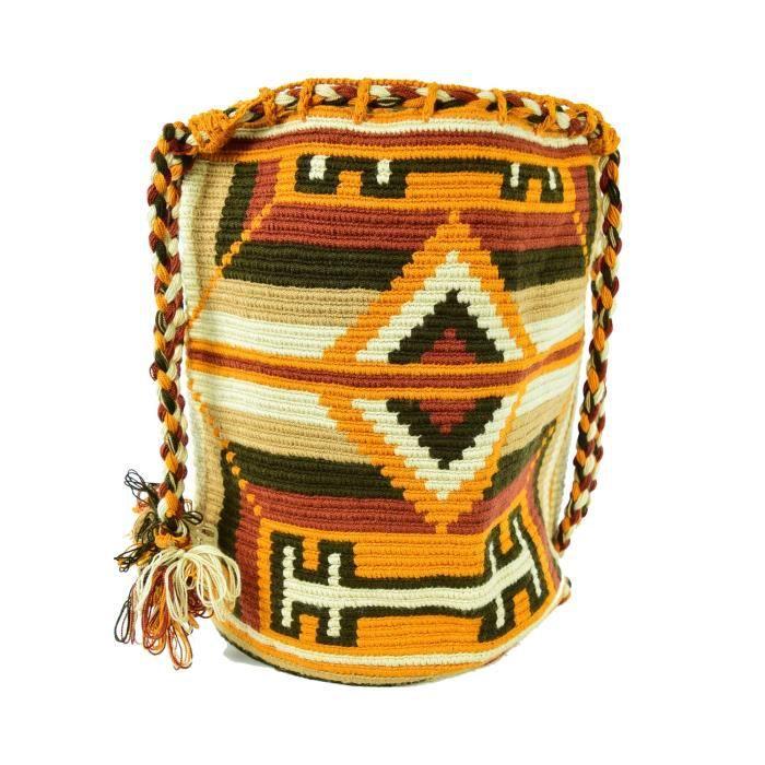 Wayuu Sac - Grand Mochila - Cordon de serrage - 1362 RZ52U