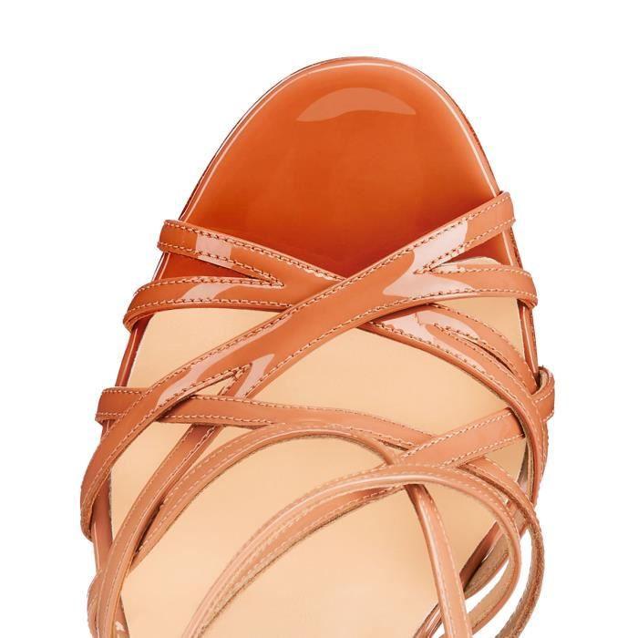 Nancy Jayjii: Sandales en cuir véritable dégrad...