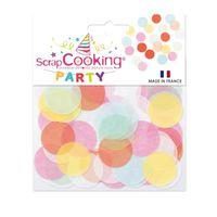 CONFETTIS Gros confettis - Multicolores - 20g - Scrapcooking