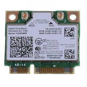CARTE RÉSEAU  Sans Fil Carte Pour Intel Dual Band 3160ac 3160 Ac