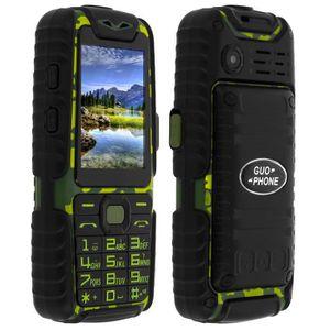 Téléphone portable Téléphone portable standard militaire Étanche Doub