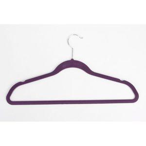 CINTRE Lot 8 cintres anti derapant velours violet mobea