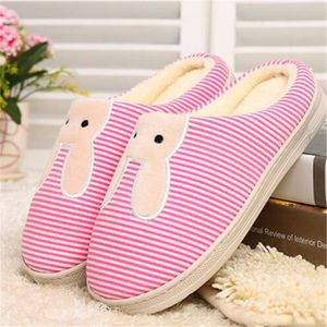 Femme Loisirs Chaussons Lapin Coton Hiver Nouvelle Mode Couple Chausson plus cachemire chaud Antidérapant Confortable 36-41 bsUhYQbSS