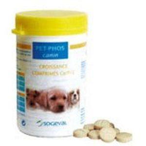COMPLÉMENT ALIMENTAIRE Pet-Phos Ca/P 2 Croissance chien - 100 comprimés
