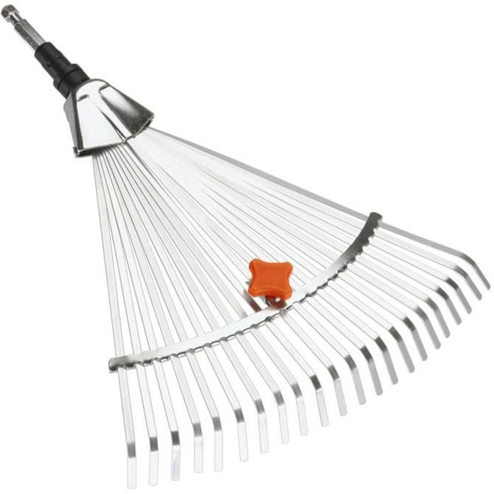 GARDENA Balai à gazon largeur réglable: 30 à 50cm