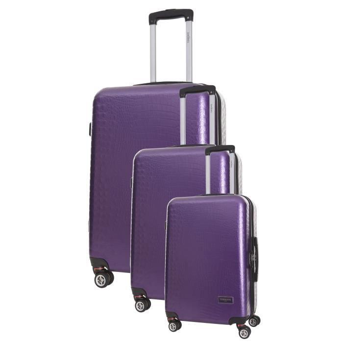 TORRENTE Set de 3 Valises Parvati - Taille S, M et L - 8 Roues - Violet