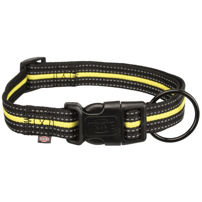 TRIXIE Collier Sporting Fusion L–XL : 40–65 cm-25 mm - Noir et jaune - Pour chien
