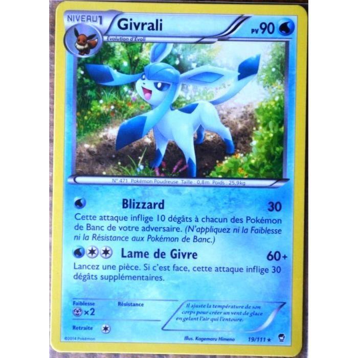 Carte pok mon 19 111 givrali 90 pv rare xy03 xy poings furieux neuf fr achat vente carte a - Givrali pokemon ...