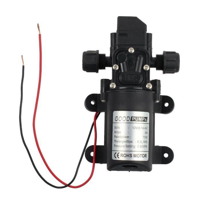 Pompe À Eau Membrane 12v 70w Micro De Haute Pression Automatique 6l-min
