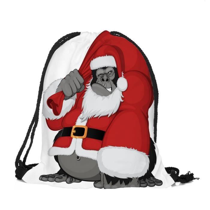 Stockage Cordonnet Ensemble À Poche Satchel sa1846 De Sac Joyeux Noël Candy Bag Rucksack wq1xpHPg