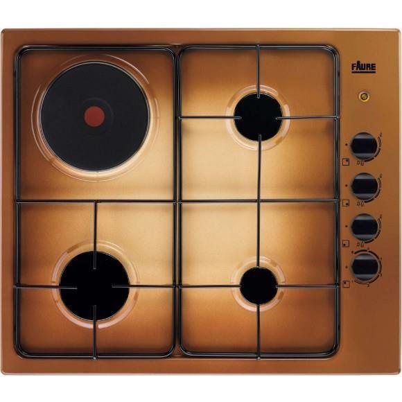 plaque de cuisson mixte 3 gaz 1 electrique - achat / vente plaque