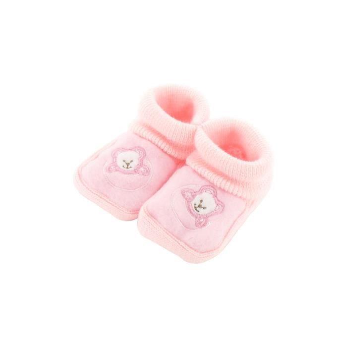 Chaussons pour bébé 0 à 3 Mois blanc - Motif Ourson Lune Ywu4O