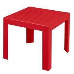 Table basse miami 40cm coloris rouge coquelicot achat for Table de jardin rouge