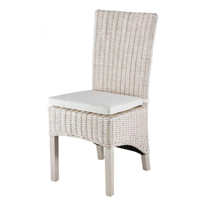 chaise en demi kubu blanc lot de 2 inwood achat vente chaise soldes d s le 10 janvier. Black Bedroom Furniture Sets. Home Design Ideas