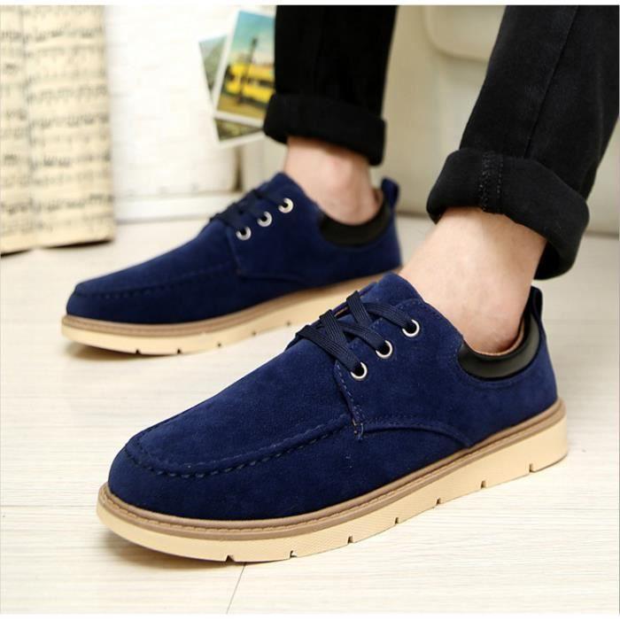 mode casual chaussures pour hommes occasionnels-bleu foncé