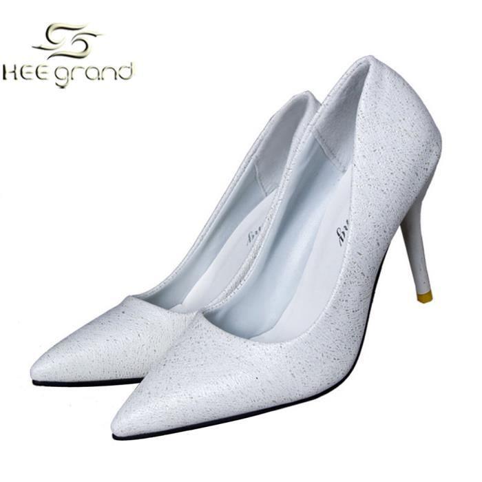 Escapin Pailleté aux Femmes Filles Chaussures Sexy Bal de Talon Pointu HEE GRAND